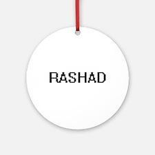 Rashad Digital Name Design Ornament (Round)
