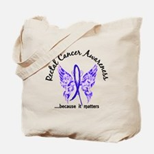 Rectal Cancer Butterfly 6.1 Tote Bag