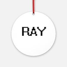 Ray Digital Name Design Ornament (Round)