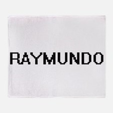 Raymundo Digital Name Design Throw Blanket