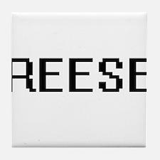 Reese Digital Name Design Tile Coaster