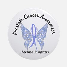 Prostate Cancer Butterfly 6.1 Ornament (Round)