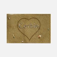 Corbin Beach Love Rectangle Magnet