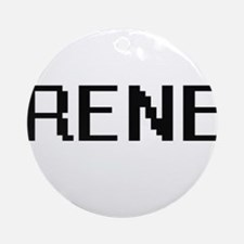 Rene Digital Name Design Ornament (Round)