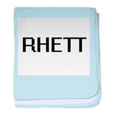 Rhett Digital Name Design baby blanket