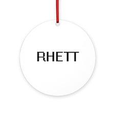 Rhett Digital Name Design Ornament (Round)