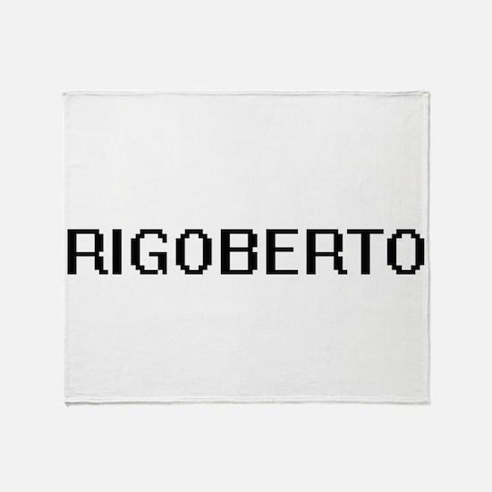 Rigoberto Digital Name Design Throw Blanket