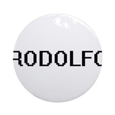 Rodolfo Digital Name Design Ornament (Round)