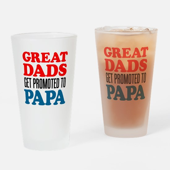 Promoted To Papa Drinkware Drinking Glass