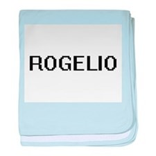 Rogelio Digital Name Design baby blanket
