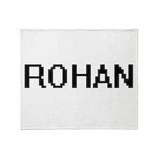 Rohan Digital Name Design Throw Blanket