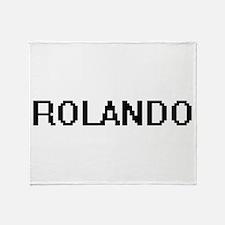 Rolando Digital Name Design Throw Blanket