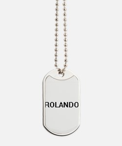 Rolando Digital Name Design Dog Tags