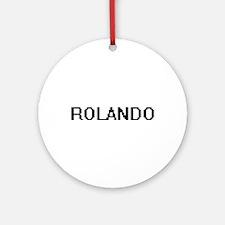 Rolando Digital Name Design Ornament (Round)