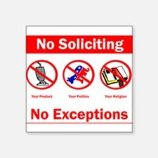 nosoliciting3 Sticker