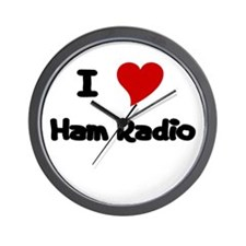 I Love Ham Radio Wall Clock