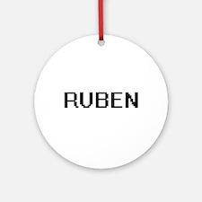 Ruben Digital Name Design Ornament (Round)