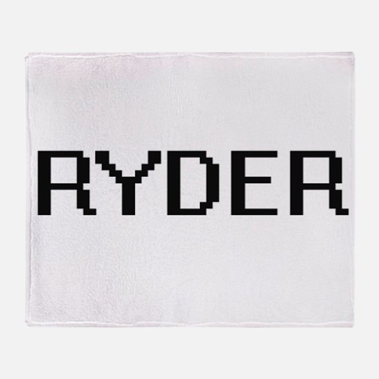 Ryder Digital Name Design Throw Blanket