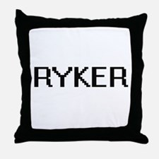 Ryker Digital Name Design Throw Pillow