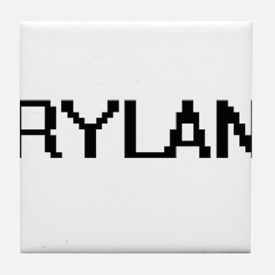 Rylan Digital Name Design Tile Coaster