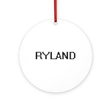 Ryland Digital Name Design Ornament (Round)