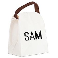 Sam Digital Name Design Canvas Lunch Bag