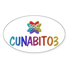 CUNABITO3 Products Oval Decal
