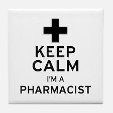Keep Calm Pharmacist Tile Coaster