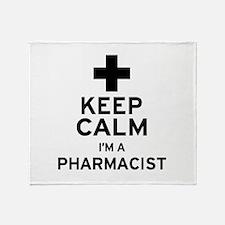 Keep Calm Pharmacist Throw Blanket