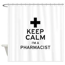 Keep Calm Pharmacist Shower Curtain