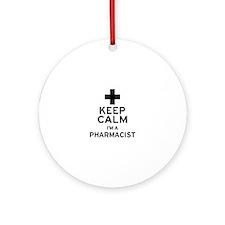 Keep Calm Pharmacist Ornament (Round)