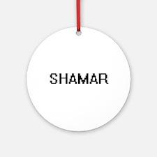 Shamar Digital Name Design Ornament (Round)
