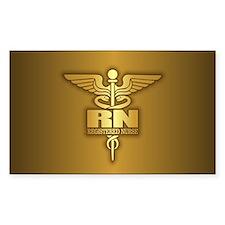 Gold Caduceus (RN) Decal