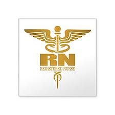Gold Caduceus (RN) Sticker