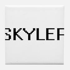 Skyler Digital Name Design Tile Coaster