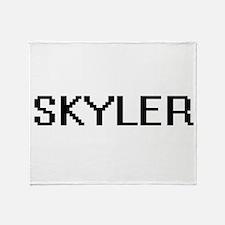 Skyler Digital Name Design Throw Blanket