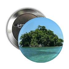 "Blue Lagoon Monkey Island Jamaica 2.25"" Button"