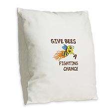 Fighting Chance Burlap Throw Pillow