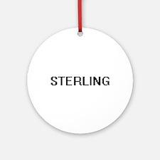 Sterling Digital Name Design Ornament (Round)