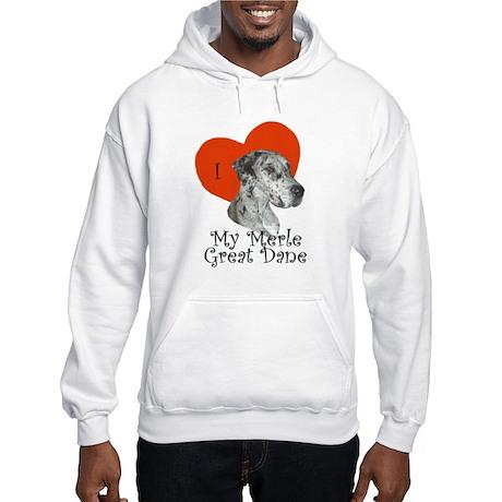 Luv My Merle Great Dane II Hooded Sweatshirt
