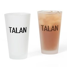Talan Digital Name Design Drinking Glass