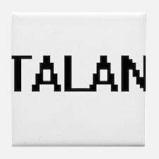 Talan Digital Name Design Tile Coaster