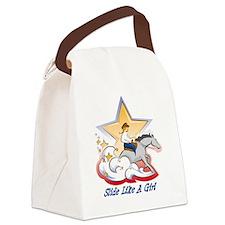 SlideLikeAGrl Canvas Lunch Bag