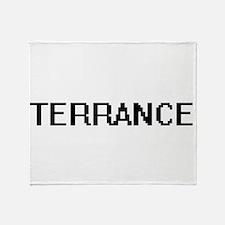Terrance Digital Name Design Throw Blanket