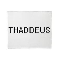 Thaddeus Digital Name Design Throw Blanket