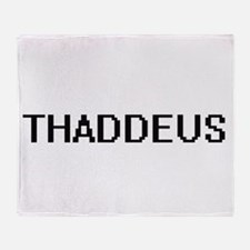 Thaddeus Digital Name Design Throw Blanket