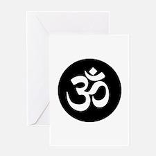 Om Symbol Circle Greeting Cards
