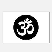 Om Symbol Circle Postcards (package Of 8)