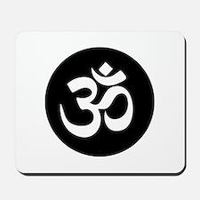 Om Symbol Circle Mousepad