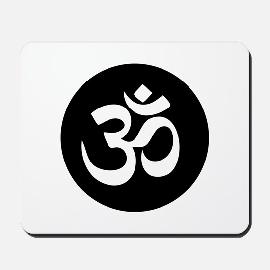 Om Symbol Circle Mousepad